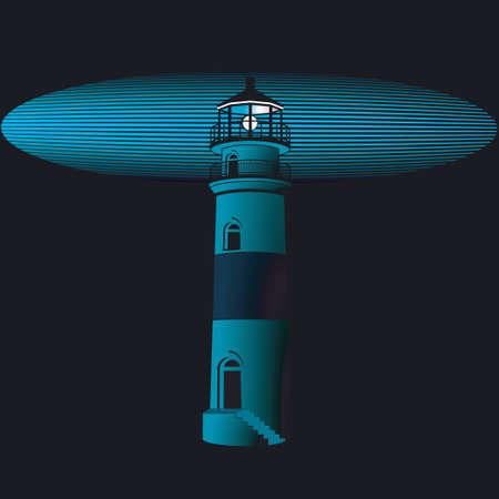 lighthouse at night: Faro se ilumina por la noche