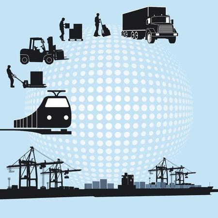 mail truck: Port and logistics