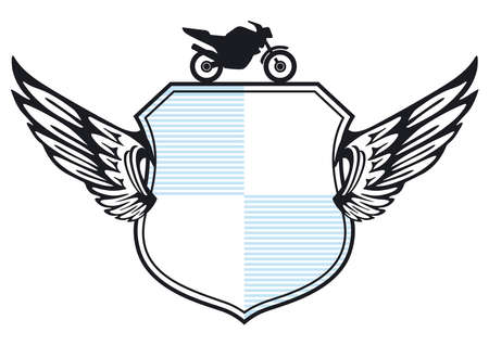 Motorcycle Club Shield Illustration