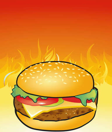 Hamburgers from the grill Vector
