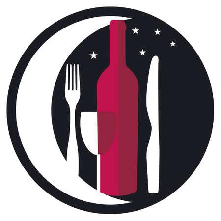 Dinner by moonlight Vector
