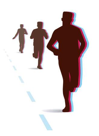 Long-distance running Stock Vector - 12492388