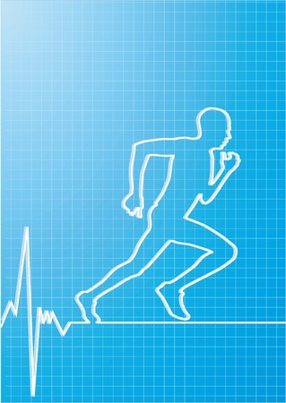 healthy running Vector