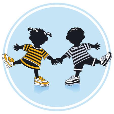 niño preescolar: Niño y niña