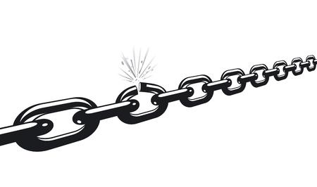 cadena rota: cadena de grietas