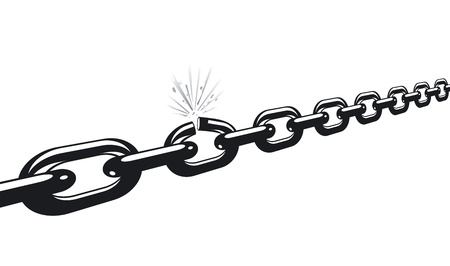 chain cracked Vector
