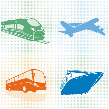 tourist information: Airplane, bus, train, ship transport