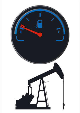 Petroleum fuel gauge Vector