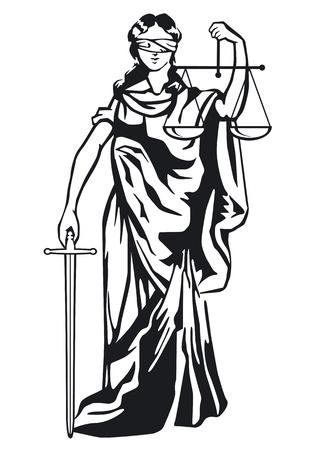 Estatua de la justicia Foto de archivo - 12802197