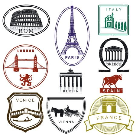 passeport: Timbres de voyage Illustration
