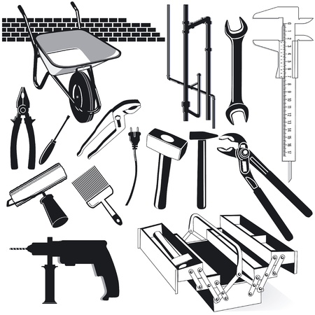 implements: hand tools Illustration