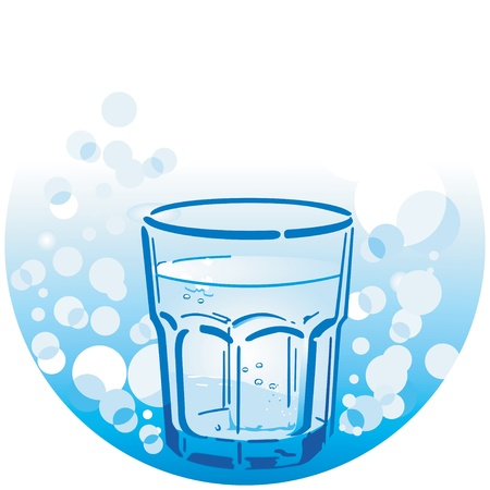 well water: clean drinking water Illustration