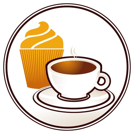 Muffins and coffee Vector