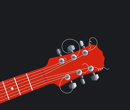 fretboard: red guitar neck Illustration