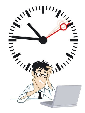 frustrating time Stock Vector - 12938680