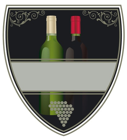 Wine Bottle Label Ilustrace