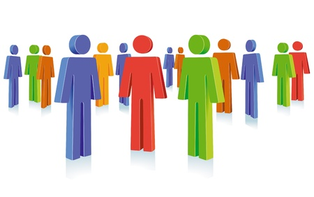 populations: People group symbol Illustration
