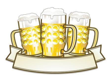 beer house: three beer mugs