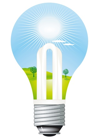 energysaving: Energy-Saving Lamp Illustration