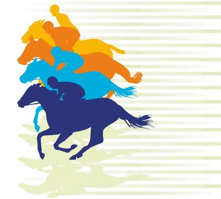 carreras de caballos: galope de la carrera