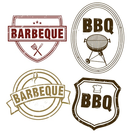 BBQ Stamping Stock Vector - 13179412