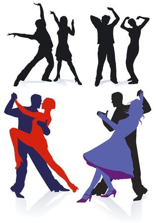 Couples on the dance floor Stock Vector - 13255668