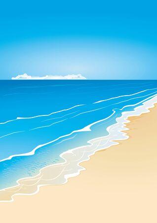 Beach and sea Vector