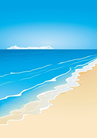 caribbean sea: Beach and sea