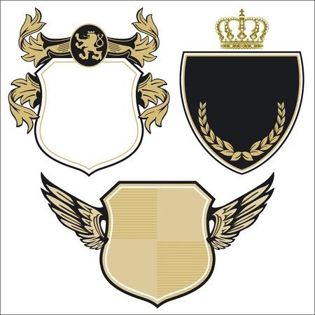 nobleman: tre stemma reale Vettoriali