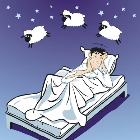 不眠症  イラスト・ベクター素材