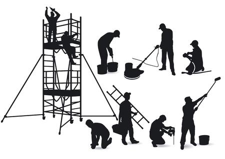 Handwerker und Gerüste