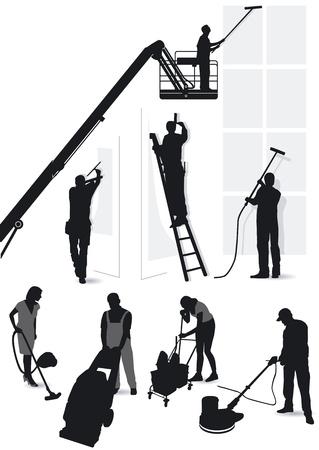 직업적인: 건축 서비스 및 청소
