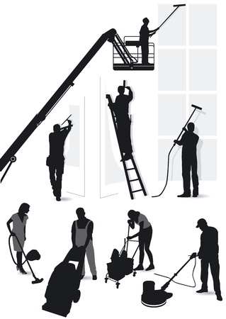 Building services and cleaning Vector
