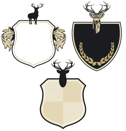 Coat of arms with three deer Stock Vector - 13767730