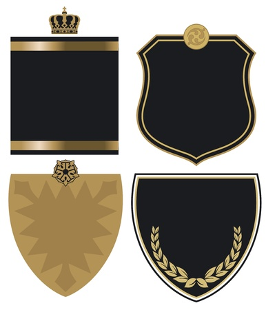 gold and black crest Vector