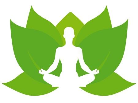yoga meditation: Lotus Yoga Vettoriali