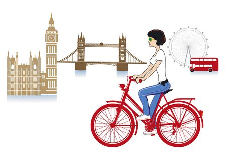 english culture: London on a bicycle