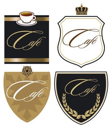 cafe sign: Cafe Sign Illustration