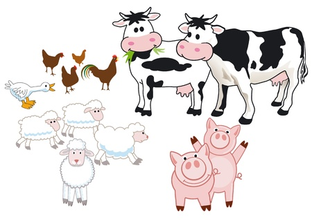 farm animals Stock Vector - 14188186