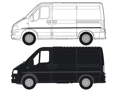 Transportation Van Vector