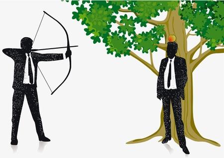 exactness: shoot the apple Illustration