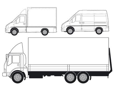 Camions et fourgonnettes de livraison Vecteurs
