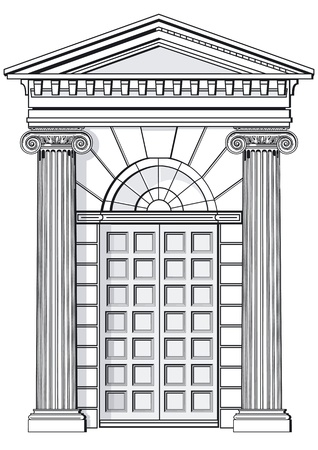 front porch: Classic entrance Illustration