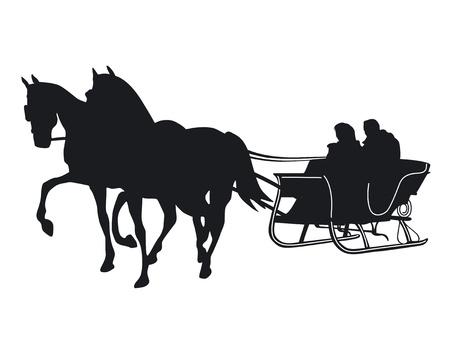 horse sleigh Stock Vector - 14304174