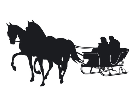 unrestrained: horse sleigh