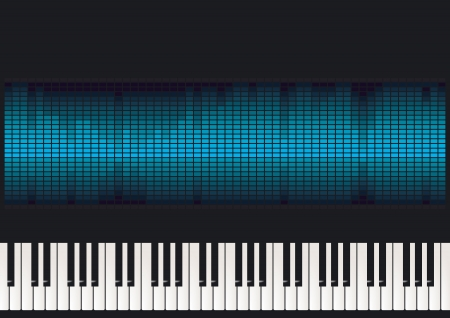 synthesizer: Piano with equalizer