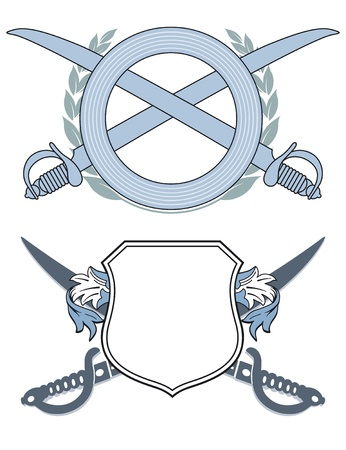 Emblem with swords Illustration