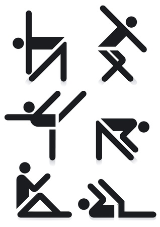 Gymnastics Pictograms Vector