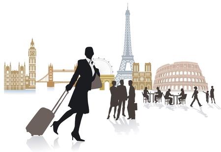 turista: Viagem na Europa