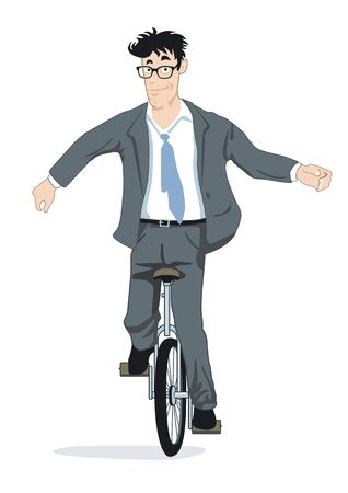 Balance on a unicycle Stock Vector - 14387973